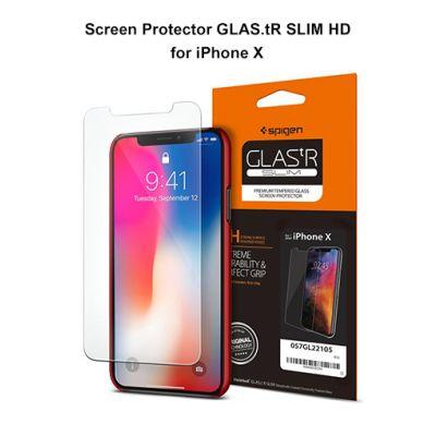 ฟิล์มกระจก SPIGEN iPhone X Oleophobic Coated Tempered Glass : Glas.tR Slim