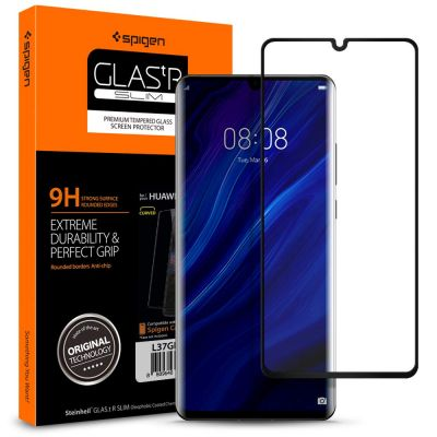 ฟิล์มกระจก SPIGEN Huawei P30 Pro Tempered Glass : Glas.tR Curved