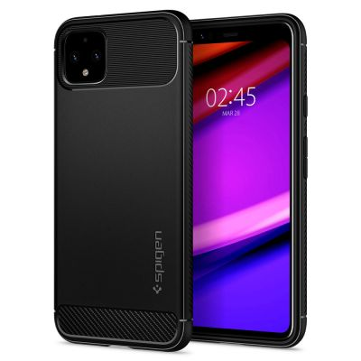 SPIGEN Pixel 4 Rugged Armor : Matte Black