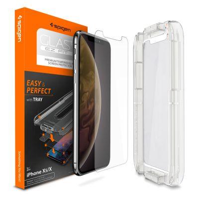 ฟิล์มกระจก SPIGEN iPhone 11 Pro / XS / X Tempered Glass : Glas.tR EZ Fit