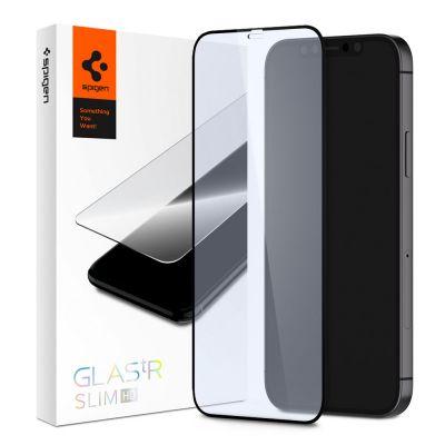 ฟิล์ม SPIGEN iPhone 12 Mini Tempered Glass Full Cover HD