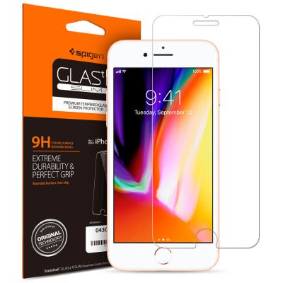 ฟิล์มกระจก SPIGEN iPhone 8/7 Plus Oleophobic Coated Tempered Glass