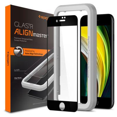 ฟิล์ม SPIGEN iPhoneSE(2020)/8/7 Tempered Glass Align Master FC
