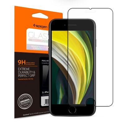 ฟิล์ม SPIGEN iPhoneSE(2020)/8/7 Tempered Glass Full Cover HD